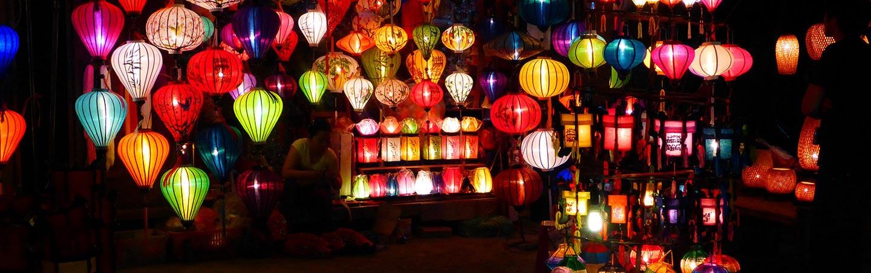 Lantern market - Backroads Vietnam, Cambodia & Laos River Cruise Bike Tour