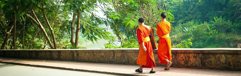 Buddhist Monks - Backroads Vietnam, Cambodia & Laos River Cruise Bike Tour