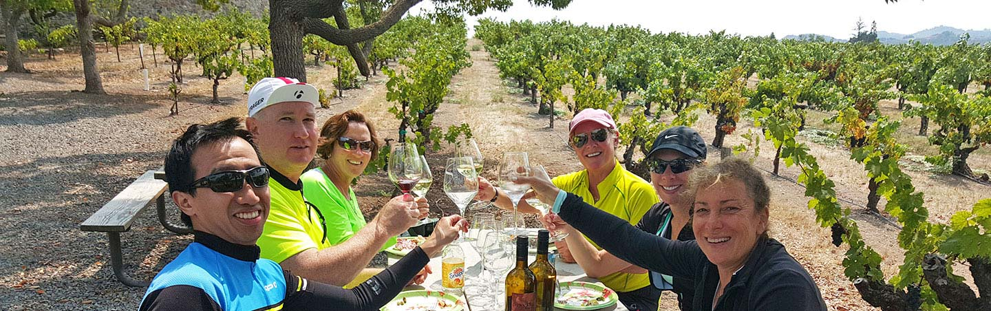 Picnic lunch on Backroads  Napa Valley Bike Tour