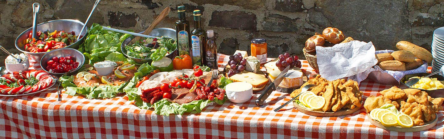 Picnic lunch on Backroads Czech Republic and Austria Bike Tours