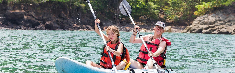 Kayaking on Backroads Maui & Lanai Family Multisport Adventure Tour