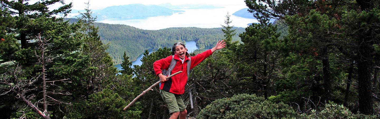 Hiking on Backroads San Juan Islands Family Multisport Tour