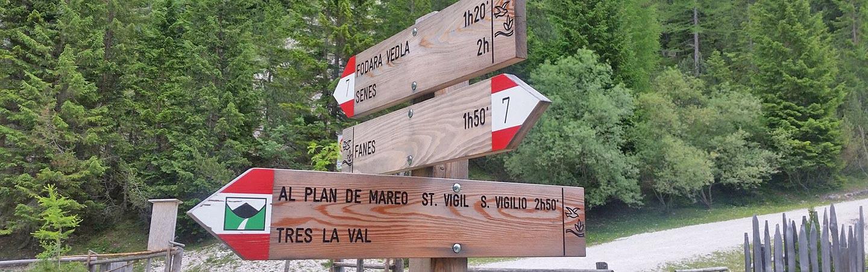 Signs - Backroads Dolomites Hut-to-Hut Hiking Tour