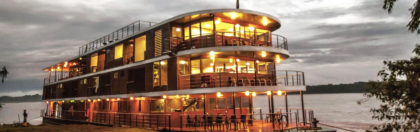 Anakonda River Ship - Amazon River Cruise Family Walking Tour