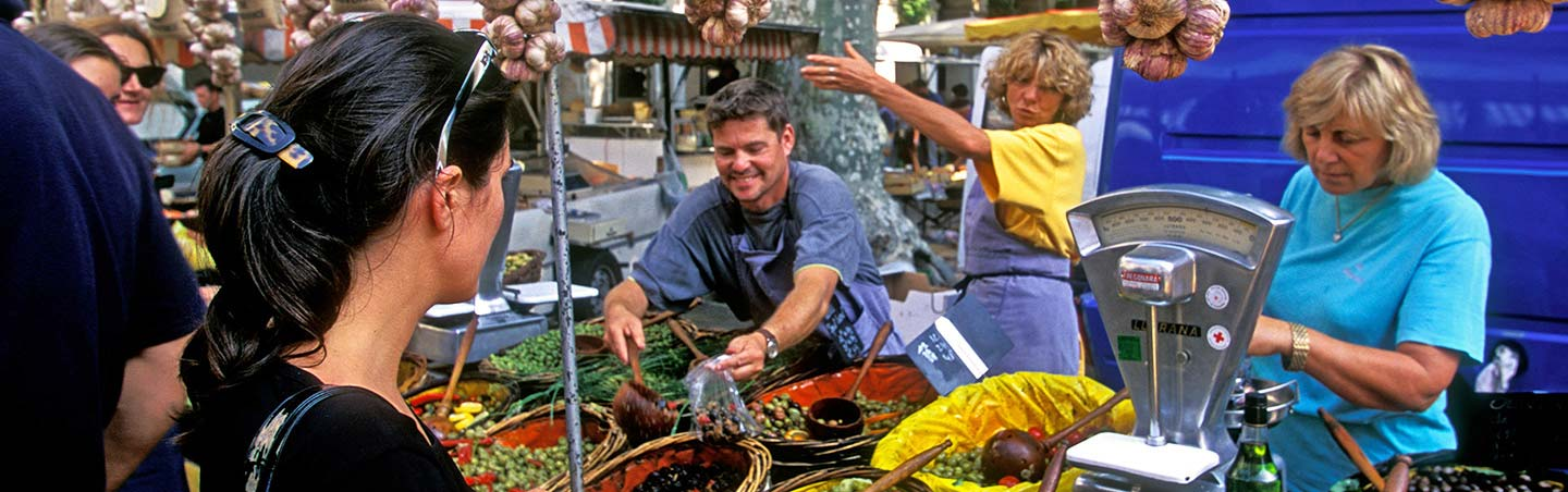 French Market - Backroads Provence Active Culinary Walking Tours