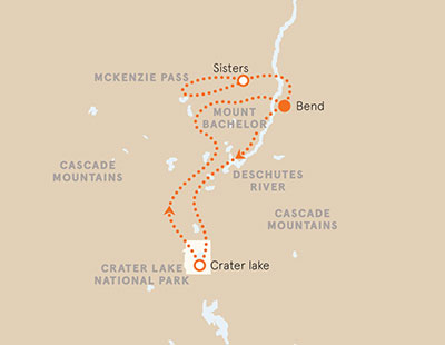Oregon Crater Lake Map