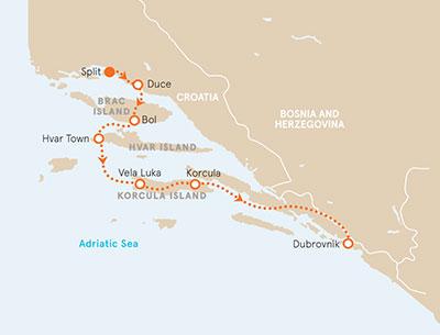 Dalmation Coast Croatia Map