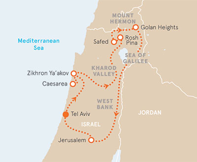 Israel Biking map