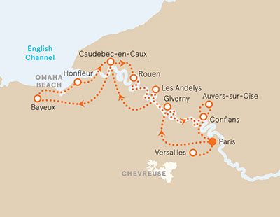 Seine River Cruise Bike Tour Map