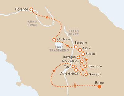 Tuscany Umbria Family Bike Tours Older Teens 20s Italy