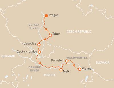 Czech Republic Austria Map
