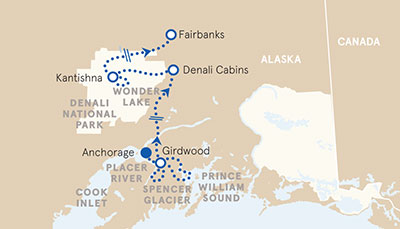 5-Nights Alaska's Prince William Sound to Denali Family Multisport Adventure Tour (Casual & Premiere Inns)