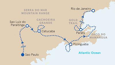 Brazil Multisport Tour Map