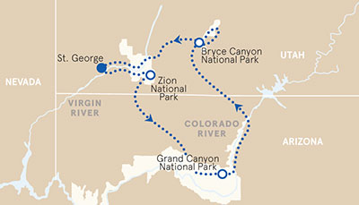 Grand Canyon Hiking Tours | Bike Tours | Hiking Trips Bryce & Zion