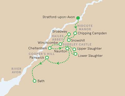 England Walking & Hiking Map