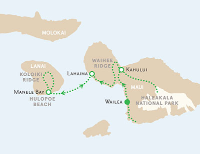 Maui and Lanai walking tour map