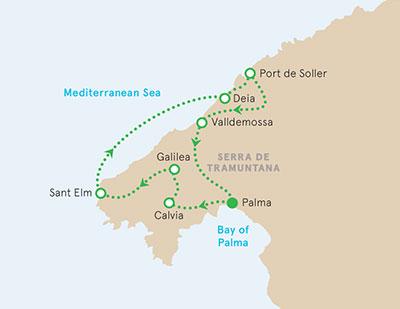 Mallorca Walking tour map