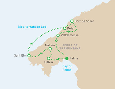 Mallorca Walking tour map