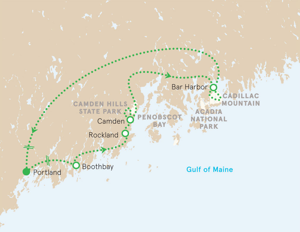 Maine walking map