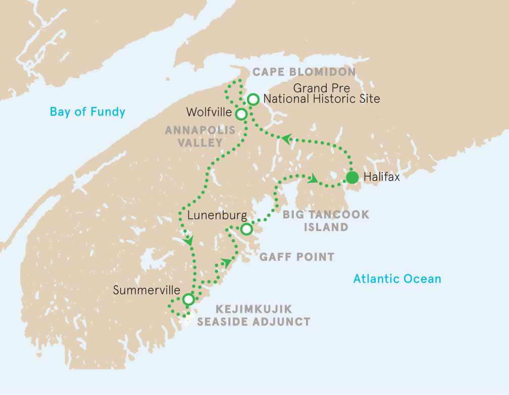 Nova Scotia Walking Tour Map