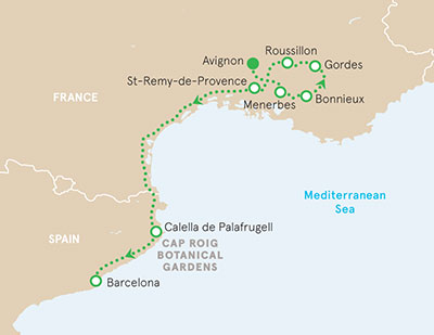 Provence and Costa Brava Walking Map