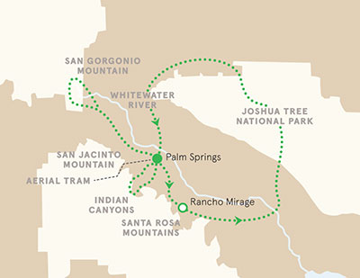 Palm Springs and Joshua Tree Walking Tour Map
