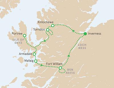 Scotland walking tour map