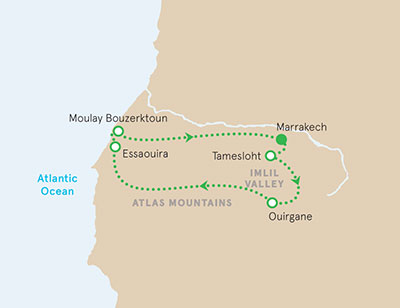 Morocco Walking Tour Map