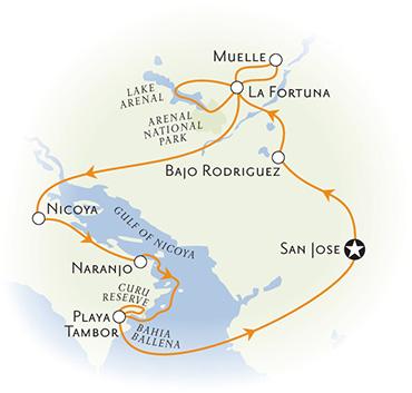 Costa Rica Biking Map