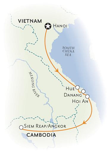 Vietnam Cambodia Map
