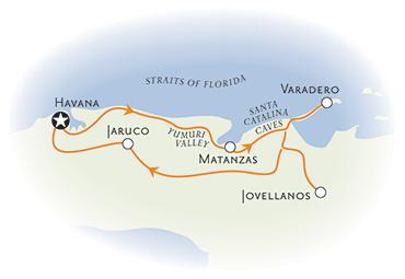 Cuba Multisport Family Breakaway Map