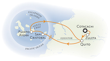 Ecuador and Galapagos Multisport Map