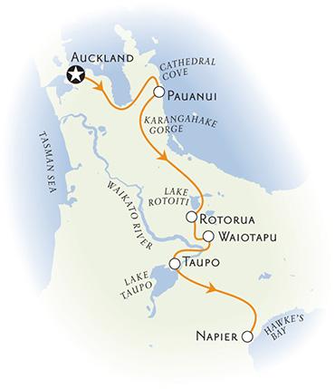 New Zealand multisport map