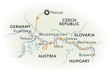 Danube River Cruise Walking and Hiking Tour