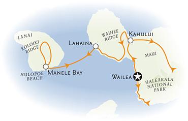 Maui and Lanai walking tour map