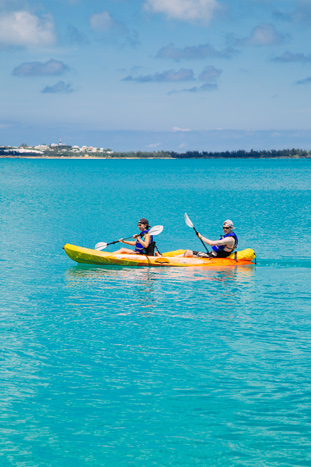 Kayaking on Backroads Bermuda Family Breakaway Bike Tour