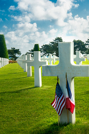 Omaha Beach and the American Military Cemetery, Normandy, France