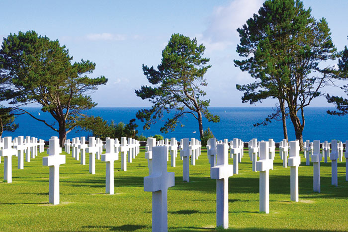 WWII Cemetery, Normandy, France