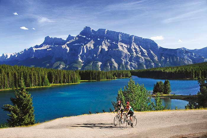 Two Jack Lake - Canadian Rockies Family Bike Tour - Older Teens & 20s