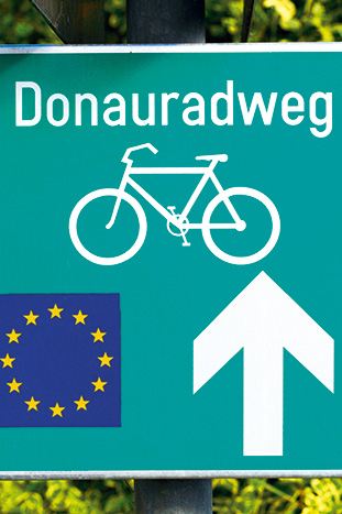 Street sign - Danube River Cruise Bike Tour
