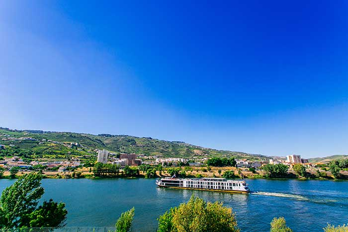 River Cruise ship on Douro River Cruise Bike Tour