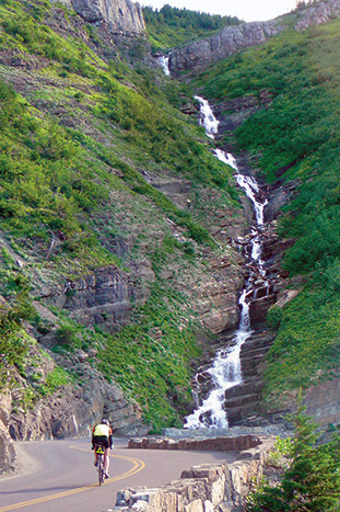 Waterfall - Glacier National Park & Waterton Lakes Bike Tour