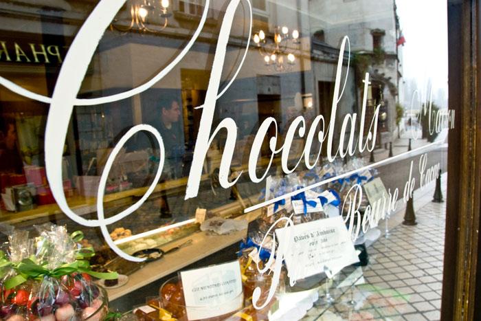 Chocolate Shop  on Backroads Loire Valley Family Breakaway Bike Tour