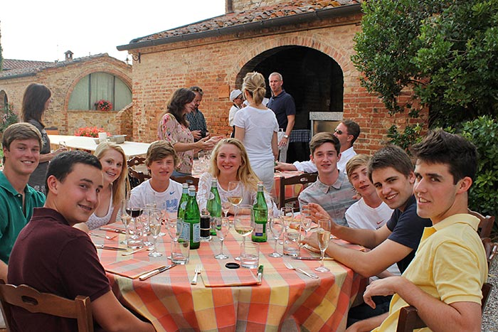 Dining on Backroads Tuscany Family Breakaway Bike Tour
