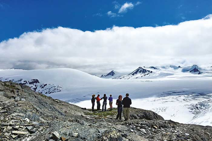 Hiking on Alaska's Kenai Peninsula Multisport Adventure Tour