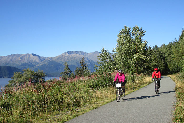 Family Biking in Alaska