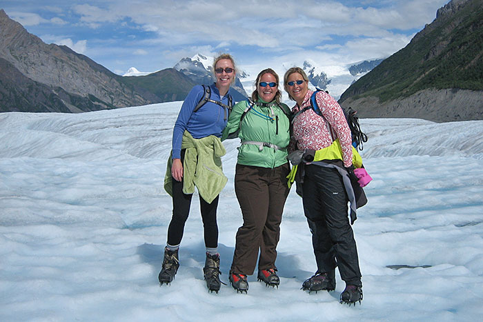 Hiking to a glacier - Alaska's Wrangell-St. Elias Multi-Adventure Tour