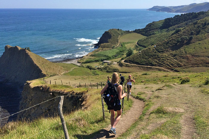 Hiking on the coast - Basque Country Family Breakaway Multisport Adventure Tour