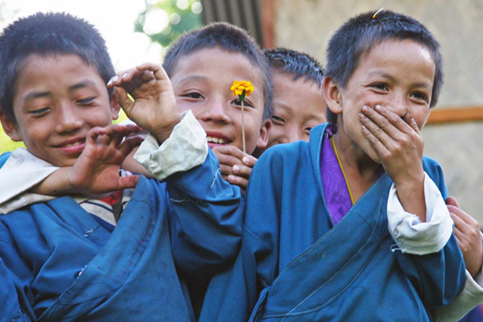 Young Buddhist monks, Bhutan