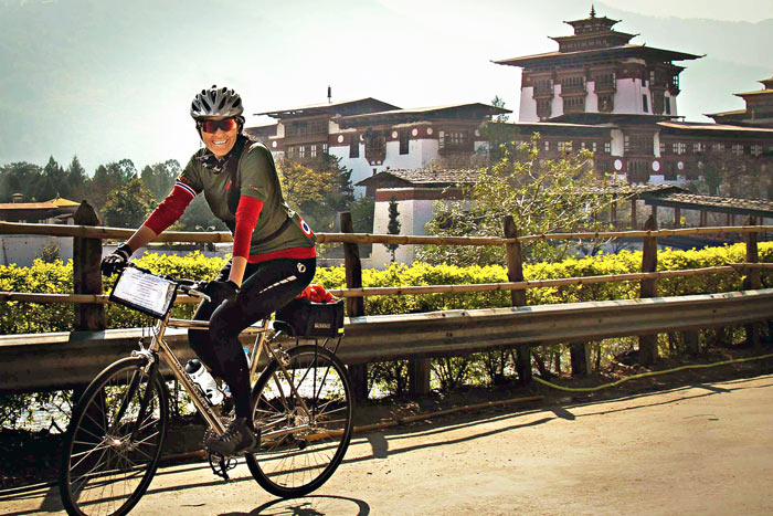 Biking in Bhutan